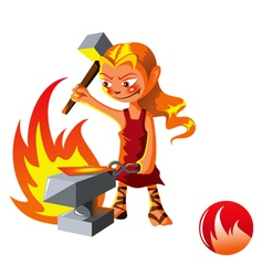 Elemental of Fire vector image vector image