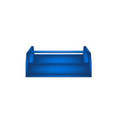 empty wooden toolbox in blue design vector image