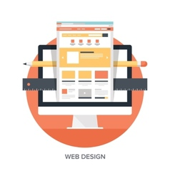 Web Design and Development vector image vector image