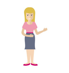 woman character in flat style vector image