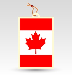 canadian made in tag vector image vector image