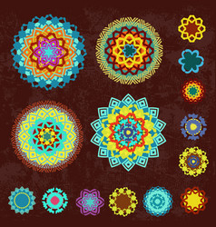 colorful collection of ethnic arabesques on vector image vector image