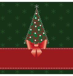 Cristmas pachwork background vector image vector image