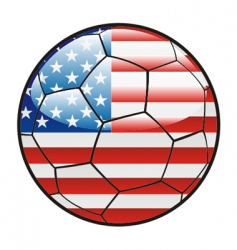 flag of America on soccer ball vector image vector image