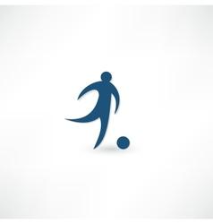 Footballer icon vector image vector image