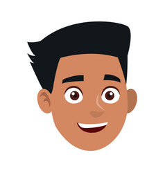 man character face avatar portrait vector image vector image