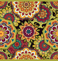 mandala colorful seamless vector image
