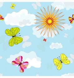 spring seamless blue wallpaper vector image