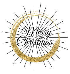 2018 gold and black card with merry christmas vector image vector image