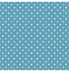blue seamless polka dot pattern textured vector image vector image