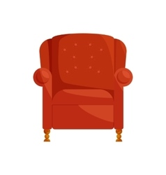 Brown armchair icon cartoon style vector image