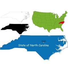 North carolina map vector image vector image