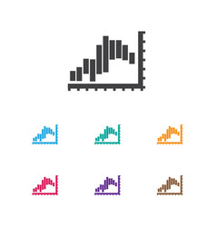 of statistic symbol on report vector image vector image
