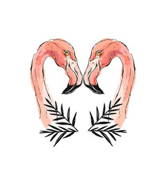 pink flamingo isolated on vector image