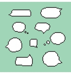 Pixel art speech bubbles isolated vector image