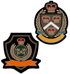 badge royal emblem shield vector image
