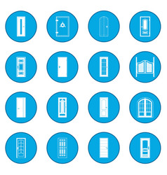 doors icon blue vector image
