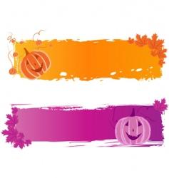 Halloween banners with pumpkin vector image