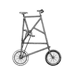 tall bike vector image vector image