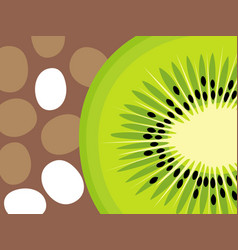 abstract kiwi fruit design in flat cut out style vector image