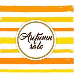abstract orange striped autumn background vector image