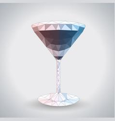 Abstract polygonal tirangle cocktail cosmopolitan vector