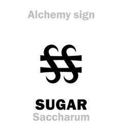 Alchemy sugar saccharum vector