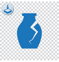 Archaeological vase icon vector
