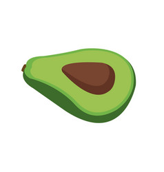 Avocado fresh raw food nutrition vector