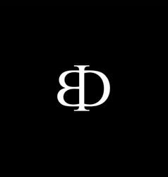 Bd letter mark monogram logo icon vector
