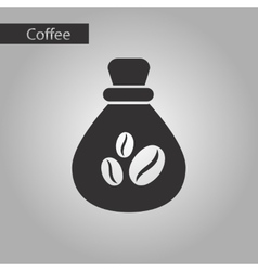 black and white style bag coffee vector image