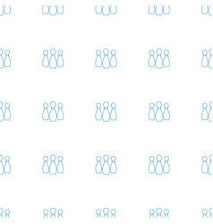 bowling icon pattern seamless white background vector image