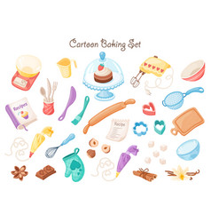 Cartoon baking equipment vector