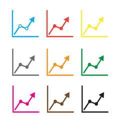 Chart icon on white background chart sign vector