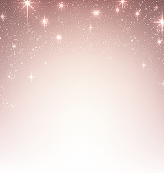 Christmas starry background with sparkles vector image