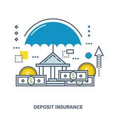 concept of deposit insurance vector image