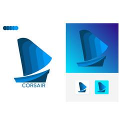 Corsair logo template design vector