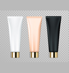 Cream or lotion tube isolated skin care cosmetic vector