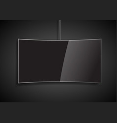 curved screen smart tv vector image