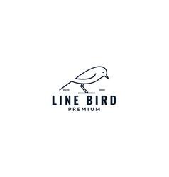 Cute canary line minimalist logo design vector