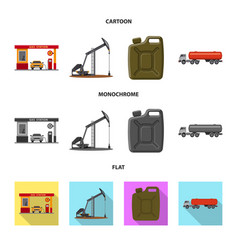design of oil and gas icon set of oil and vector image