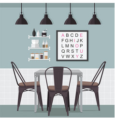 Dining room idea vector