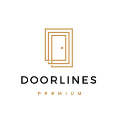 door lines logo icon vector image