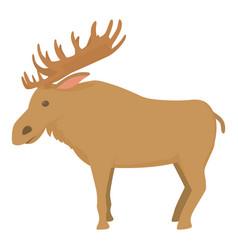 Elk icon cartoon style vector