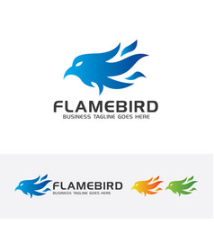 flame bird logo design vector image