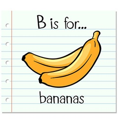Flashcard letter B is for bananas vector
