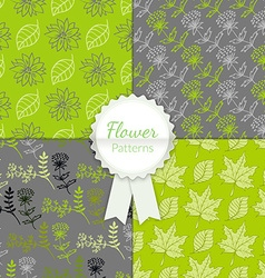 Floral Patterns Set vector image