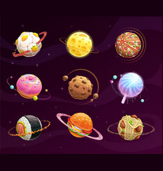 Food planet galaxy concept vector