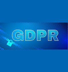 gdpr safety abstract background vector image