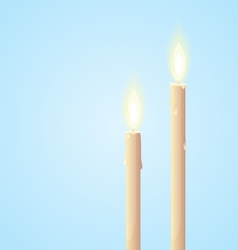 Glowing Candles vector